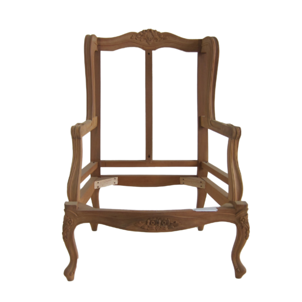 Carved Wing Chair Frame