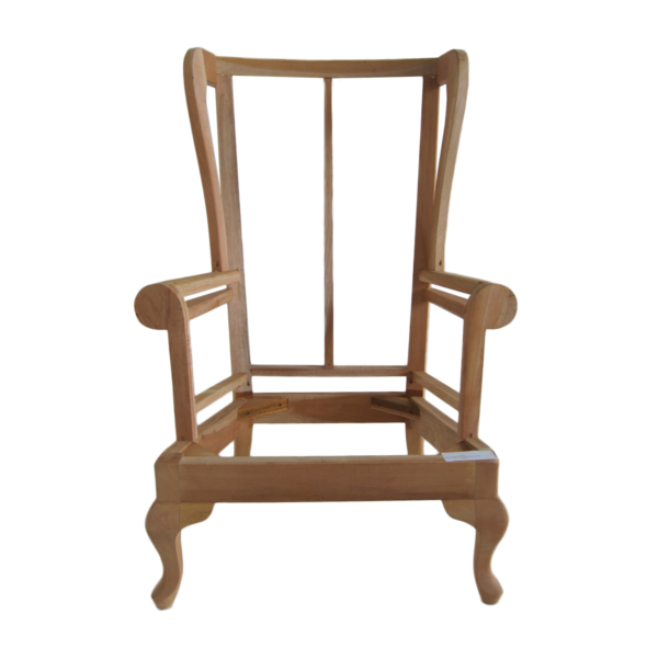 Upholstered Wing Chair Frame