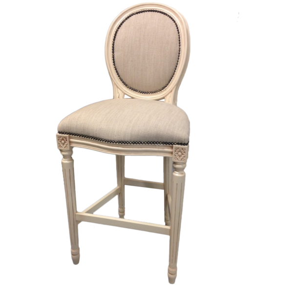 French Oval Bar Stool