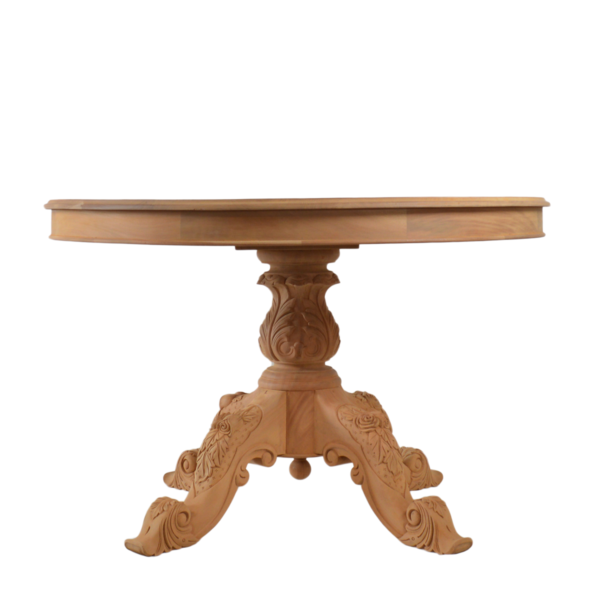 Carved Circular Dining Table